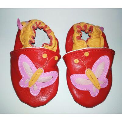 Bőrtalpú cipő - pillangós