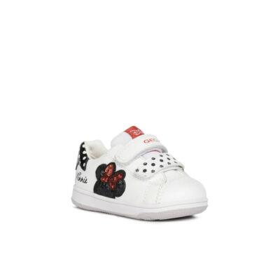 Geox lány zárt cipő - B151HA 08502 C0404 White / Black