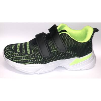 Fiú tornacipő - Fekete / neon zöld