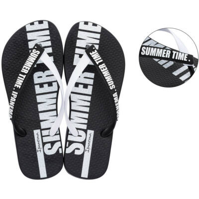Ipanema Summer Time Fem flip flop papucs - 26313-20829 Black / White