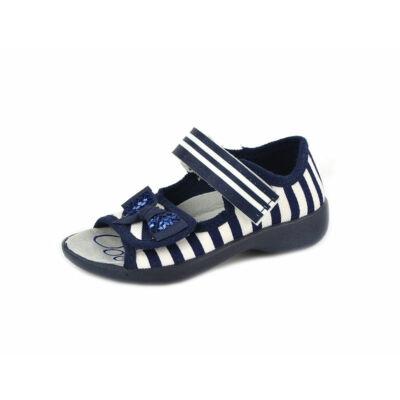 Táncsics vászon gyerekcipő - Kék/fehér