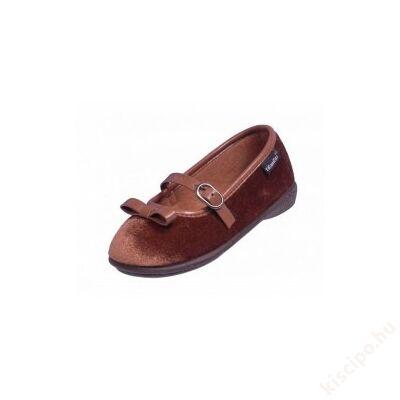 Titanitos bársony balerina cipő - T610R26193 CAMEL