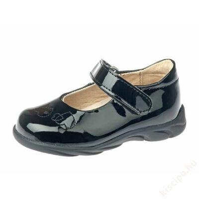 Siesta bőr szandálcipő - lakk, fekete