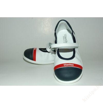 Titanitos bőr balerina cipő - T660R16292 Navy