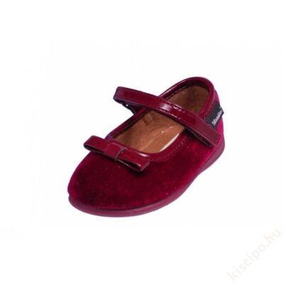 Titanitos alkalmi bársony cipő - T615Z86085 BURDEOS