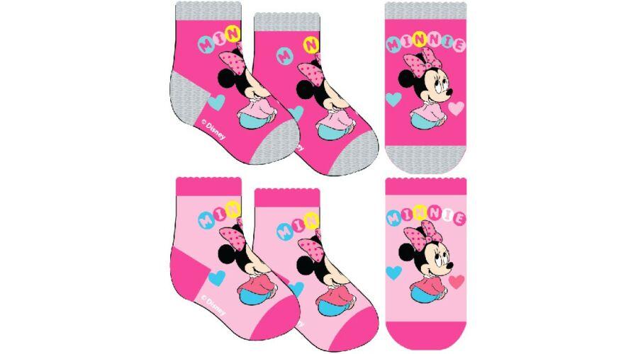 Minnie Mouse baba zokni - sötét rózsaszín - Zokni 0880ea0406