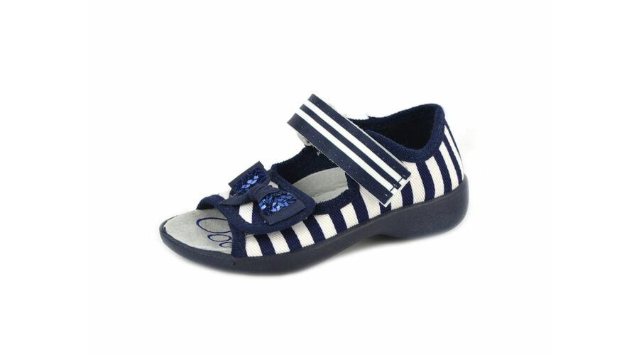 Táncsics vászon gyerekcipő - Kék fehér - Vászoncipő ed5a954ac0