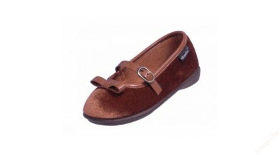 Titanitos bársony balerina cipő - T610R26193 CAMEL - Vászoncipő 1e436d9131
