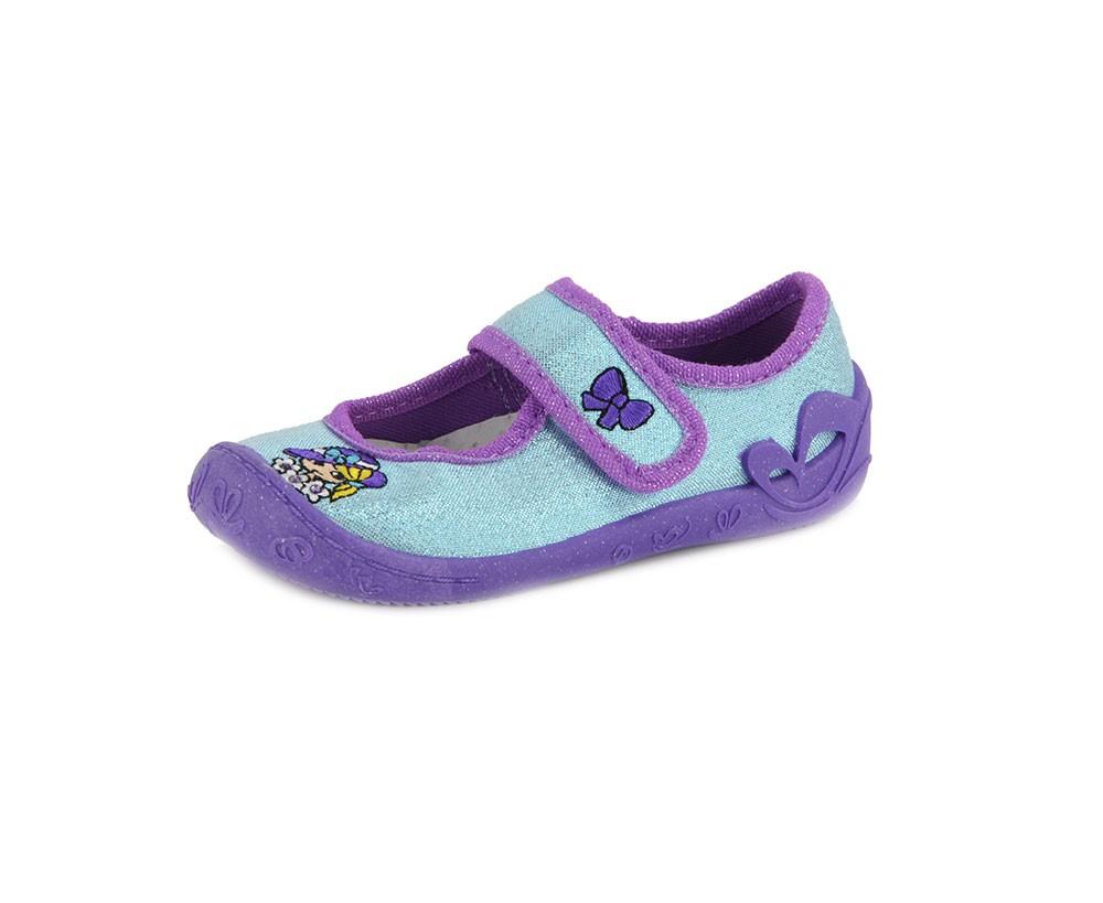 Táncsics vászon gyerekcipő - türkiz lila - Vászoncipő da409678f5